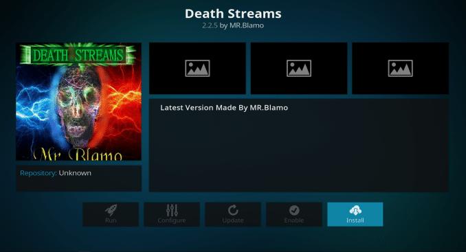 Death Streams Addon Guide