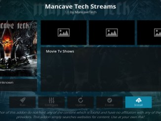 Mancave Tech Streams Addon Guide