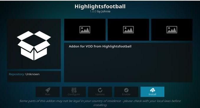 HighlightsFootball Addon Guide - Kodi Reviews