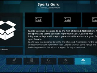 Sports Guru Addon Guide - Kodi Reviews