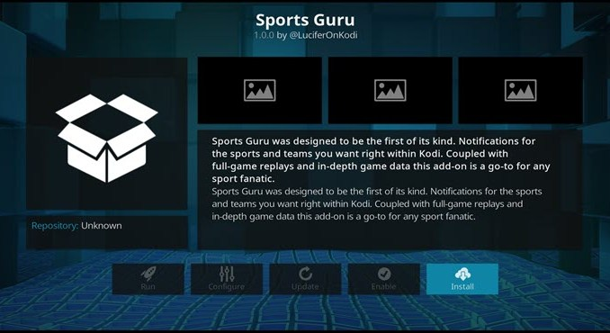 Sports Guru Addon Guide - Kodi Reviews