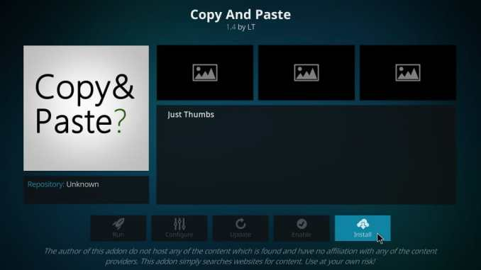 How to Install Copy And Paste Kodi Addon