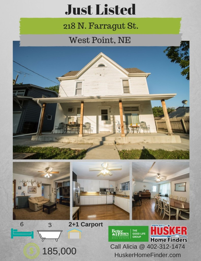 218 N Farragut St West Point NE JUST Listed