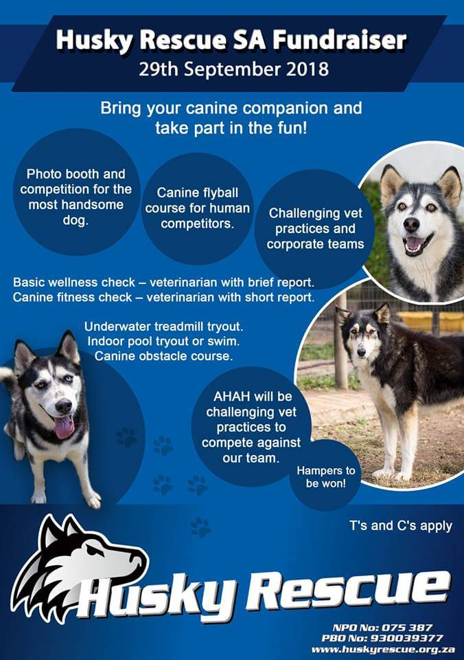 Animal Health and Hydro (AHAH)‎ 2018 Fundraiser for Husky Rescue