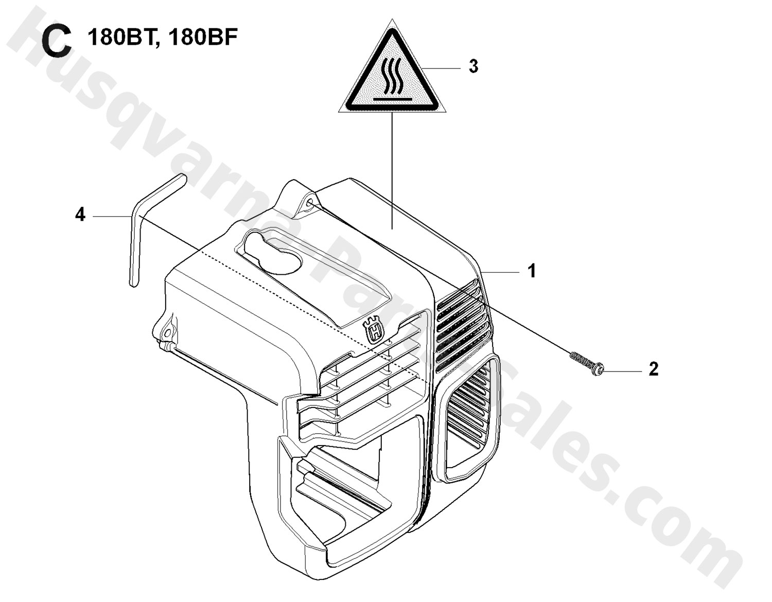 180bf Husqvarna Backpack Blowers Cylinder Cover Parts
