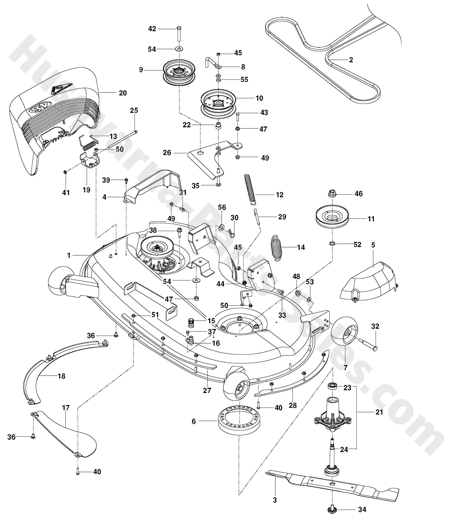Rz Husqvarna Ztr Mowers Deck Parts