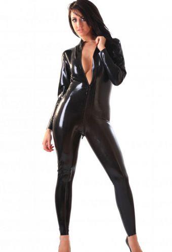 acheter une combinaison large en latex noir sexy