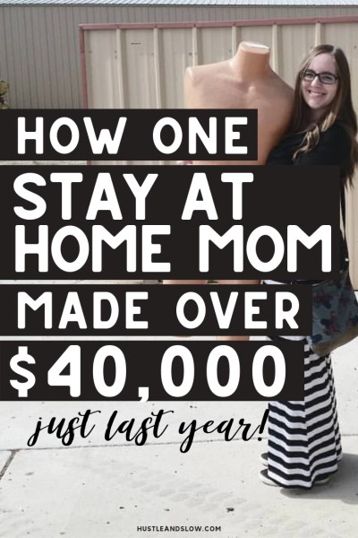 How one stay at home mom made $40,000 last year