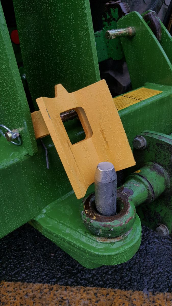 Yellow latch for better visibility