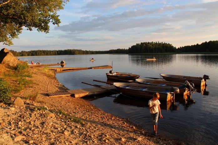Campingen Getnö gård erbjöd både roddbåtar och motorbåtar för uthyrning.