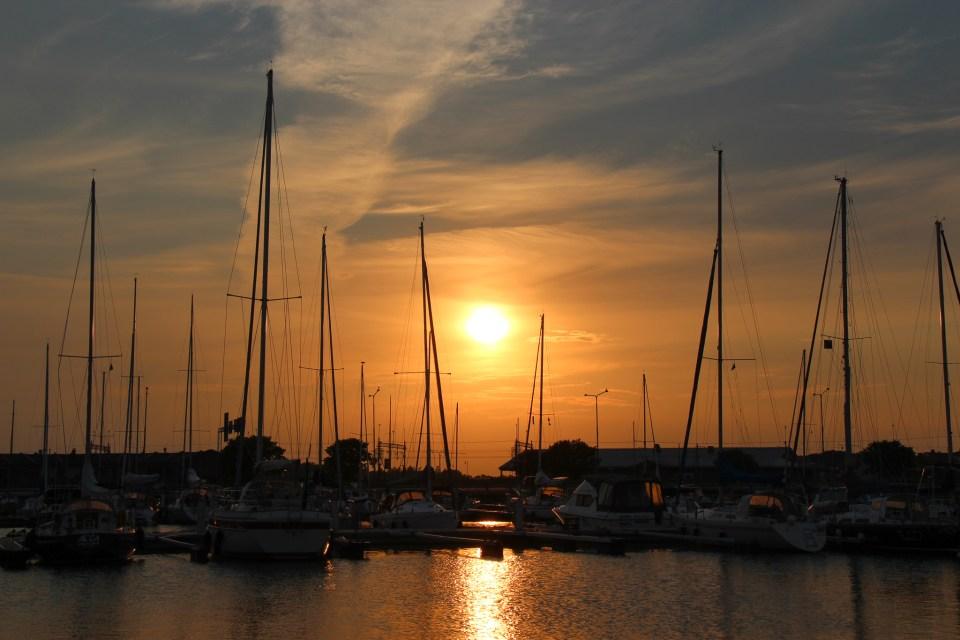 Solnedgång i Karlskrona.