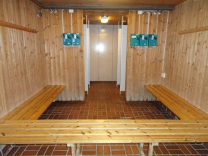 Shower room, Den Norske Turistforening (DNT) at Rondvassbu Hut, hut2hut operational profile