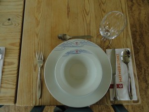 Perfect table setting, Den Norske Turistforening (DNT) at Rondvassbu Hut, hut2hut operational profile