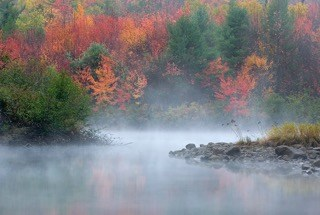 Dead River in Fall, Maine Huts & Trails, hut2hut