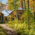 Flagstaff Hut Entrance, Maine Huts, Photo Galleries of Hut Systems, hut2hut