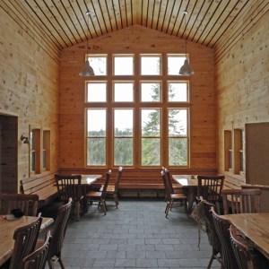 Grand Falls Hut Main Room, Maine Huts and Trails, Hut2hut operational profile