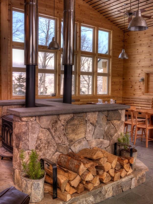 View out Stratton Brook Hut, Maine Huts & Trails, hut2hut