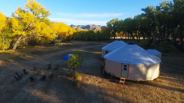 Yurts rising on the Prairie, Courtesy APR