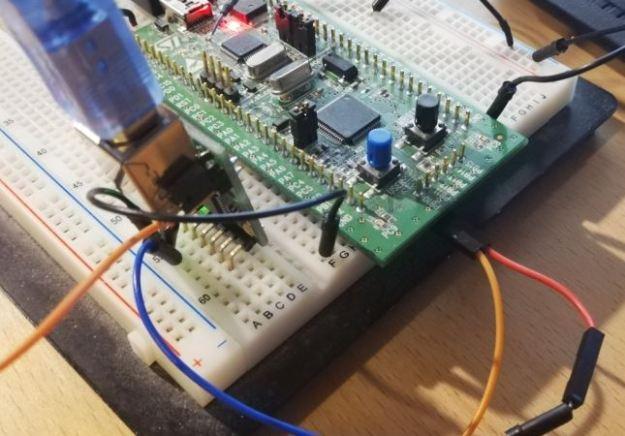 USB-ISS ja STM32 yhteydessä toisiinsa