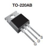 MOSFET transistorin kotelo TO220