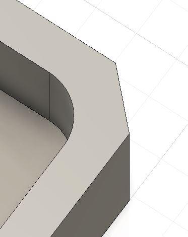 3D-mallin kulmien viiste ja pyöristys