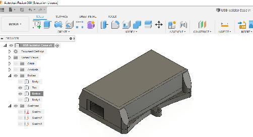 3D-mallintaminen kotelon teko