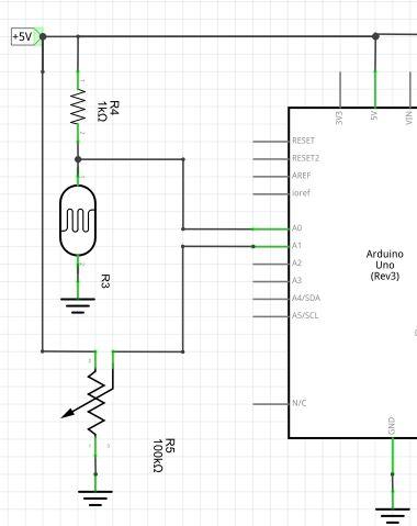 Arduino ja potikka