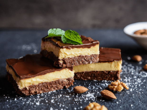 Unbaked Maple Nanaimo Bars