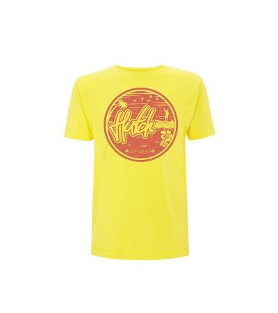Maui tee in yellow and salmon