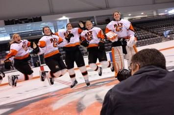 on the ice to capture the RIT women's hockey seniors