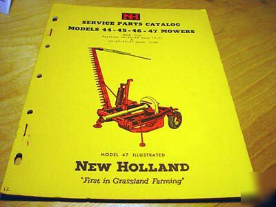 New Holland 44 45 46 47 Sickle Bar Mower Parts Manual