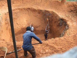 Image result for how to dig a soakaway pit