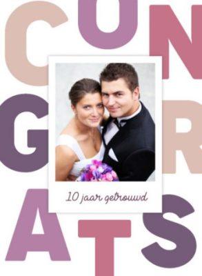 10 jaar getrouwd kaart