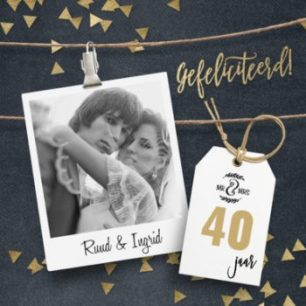 40 jaar huwelijk kaart