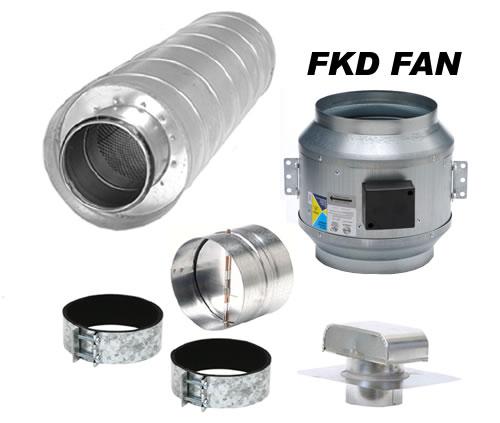 fantech component kitchen ventilation kits