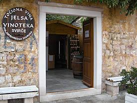 Svirce PZ tasting room in Jelsa