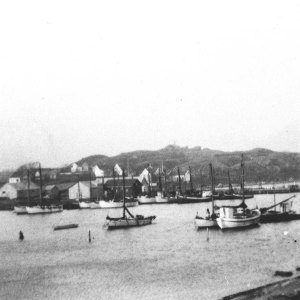 Utsyn fra Holmen mellomkrigstid