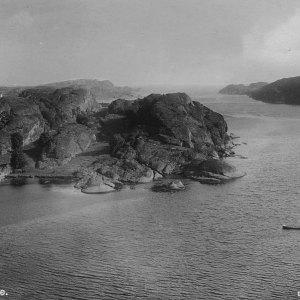 Vikerholmen i vest - før steinbruddet 1944