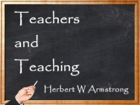 Teachers and Teaching