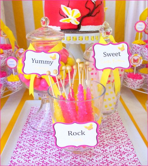 Butterfly Birthday Party Ideas Pink Yellow