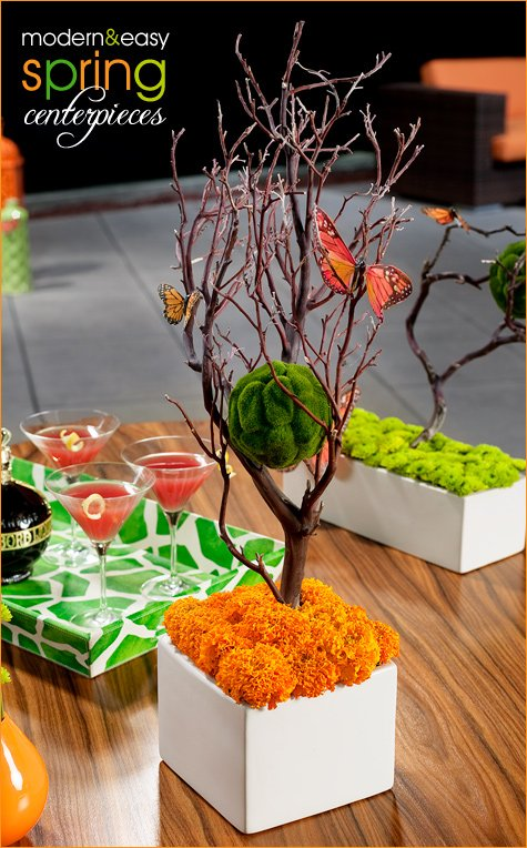 spring centerpiece and cocktail party ideas