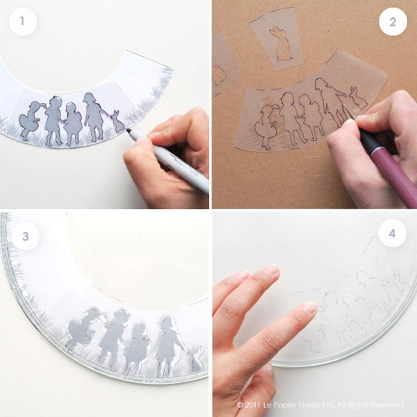 Easter Silhouette Plate DIY Project