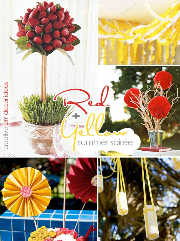 Red & Yellow Summer Cocktail Party