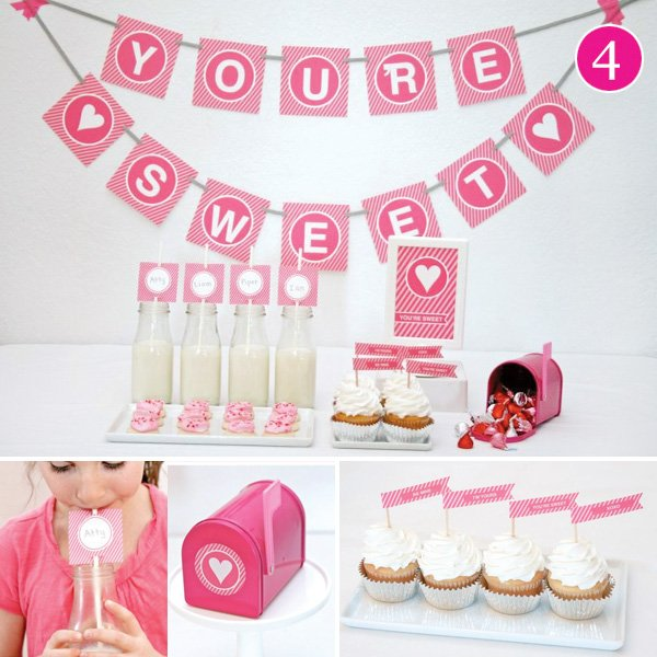 You're Sweet themed Dessert Table & Valentine's Day Printables