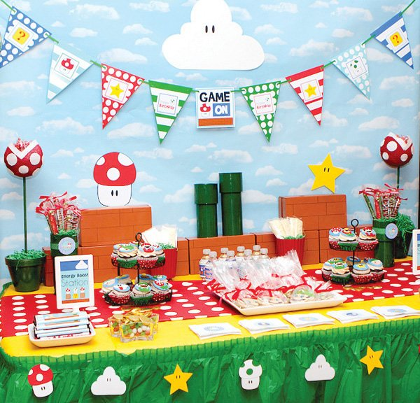 Game On Super Mario Birthday Party Hostess With The Mostess