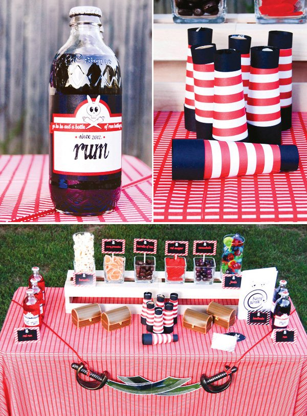 pirate bunny easter party telescopes and drinks