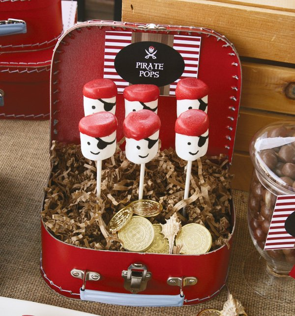 pirate party marshmallow pops