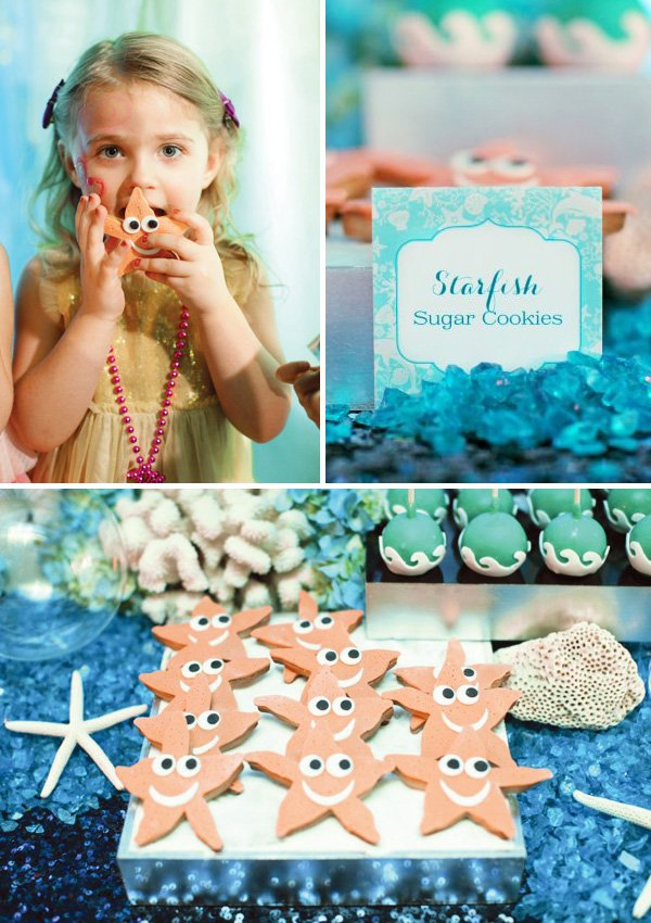 starfish cookies for under the sea birthday party