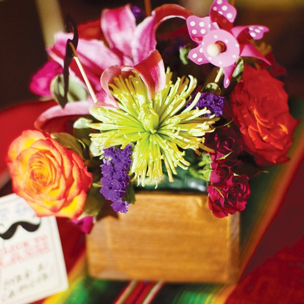 mexican theme fiesta engagement party florals