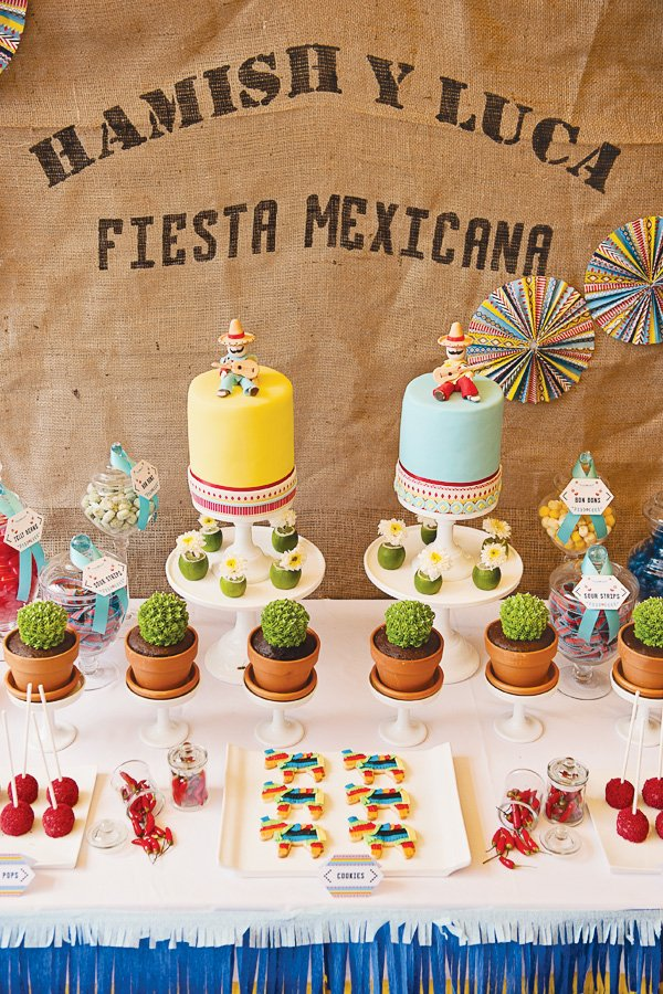 fiesta mexicana a twins birthday party hostess with the mostess